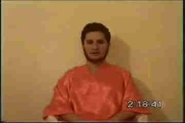 Still image from Berg beheading video